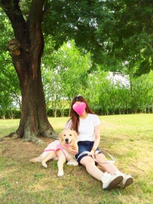 大きなミモザの樹の下で♪